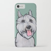 levi iPhone & iPod Cases featuring Levi the Miniature Schnauzer by Pawblo Picasso