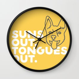 Suns Out. Tongues Out. Wall Clock