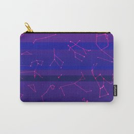 Vapourwave Stars Carry-All Pouch