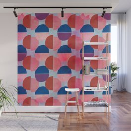 Geometric Abstract Half Round Pattern Wall Mural