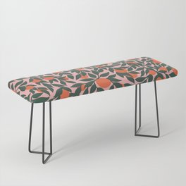 Oranges and Leaves Pattern - Pink Bench