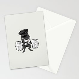 Black Pug Lift Stationery Cards