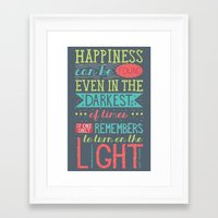 happiness Framed Art Prints featuring Happiness by Dorothy Leigh