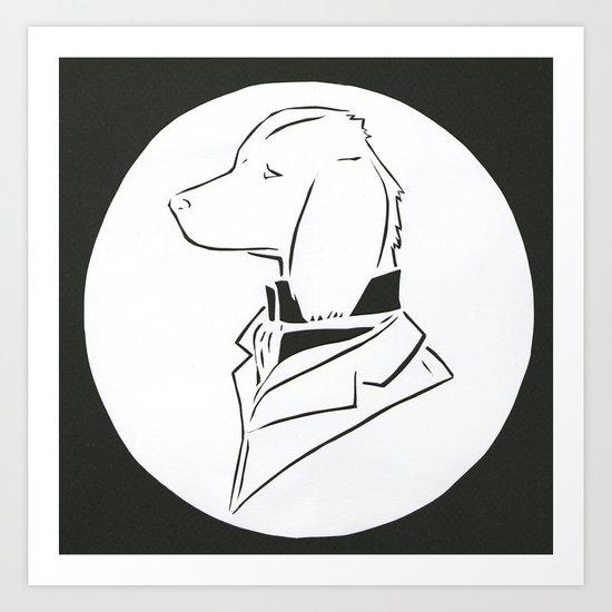 dapper dog Art Print