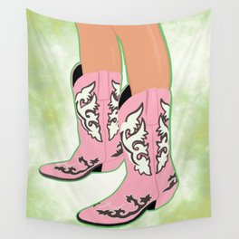 Space Cowboy Boots Wall Tapestry