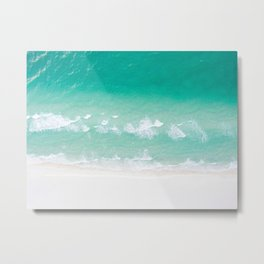 Turquoise Ocean Metal Print