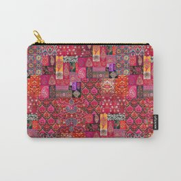 N98 - Traditional Heritage Boho Oriental Moroccan Collage Style. Carry-All Pouch