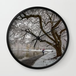 Boston Garden - winter walk Wall Clock