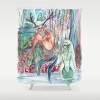 friendship Shower Curtains featuring Friendship by Giulia Colombo