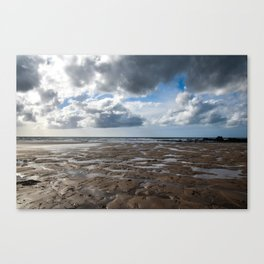 Clouds Over Bude Beach - Bude, England Canvas Print