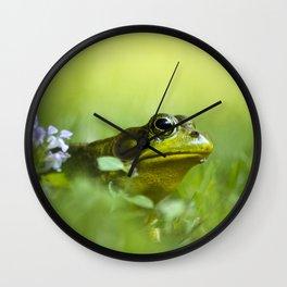 Frog Portrait Wall Clock