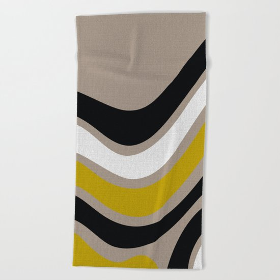 WAVES 2# ABSTRACT Beach Towel