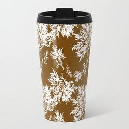 Brown Seaweed Pattern Travel Mug