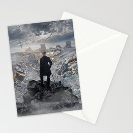 Wanderer above the Sea of Trash Stationery Cards