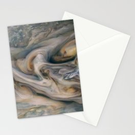Luminous clouds of Jupiter mission flyby telescopic photograph Stationery Cards