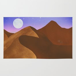 At night in the desert Rug
