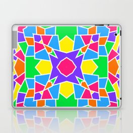 Rainbow Mosaic Symmetrical Kaleidoscope  Laptop & iPad Skin