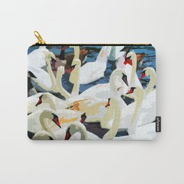 Swans on the Lake Carry-All Pouch