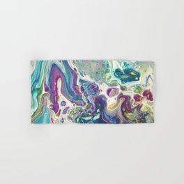 Fluid Nature - Purple Dance - Abstract Acrylic Pour Art Hand & Bath Towel