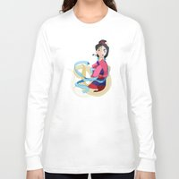 mulan Long Sleeve T-shirts featuring Mulan: Reflection by Minette Wasserman