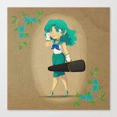 Retro Sailor Neptune Canvas Print