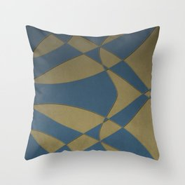 Wings and Sails - Blue and Beige Throw Pillow