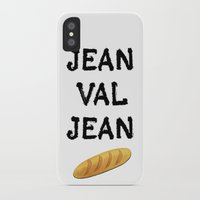cassandra jean iPhone & iPod Cases featuring jean val jean by Bread Sports