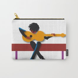 """""""Guitarist"""" by Paulette Lust contemporary, original, colorful, whimsical, art. Carry-All Pouch"""