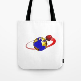 love is all around, #hatetolove Tote Bag