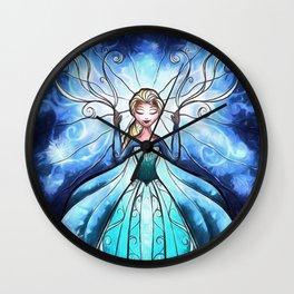 Anna and Elsa Wall Clock