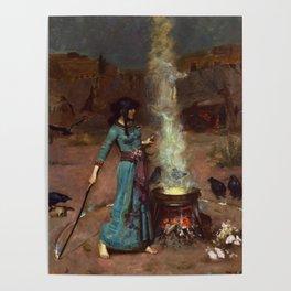 The Magic Circle John William Waterhouse Painting Poster