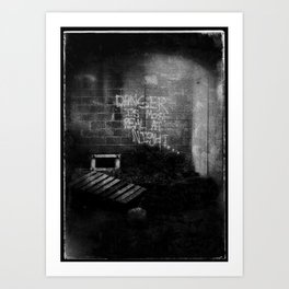 DANGER IS MOST REAL AT NIGHT... Art Print