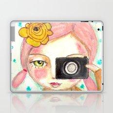 Smile ! girl with photo camera Laptop & iPad Skin