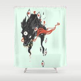 Magical Wolf Third Eye Art Shower Curtain
