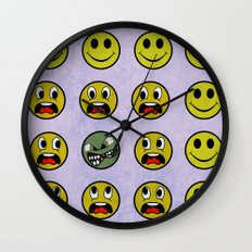 Attack of the Zombie smiley! Wall Clock