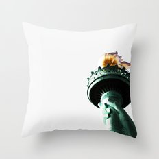 Flame of Liberty Throw Pillow