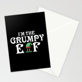 The Grumpy Elf Christmas Stationery Cards