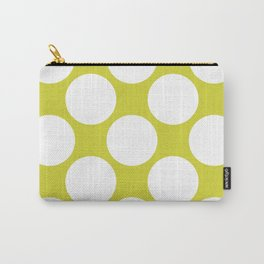 Polka Dots Green Carry-All Pouch