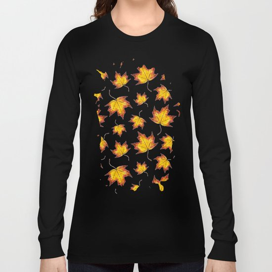 Autumn Leaves Pattern 04 Long Sleeve T-shirt