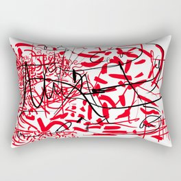 abstract typographic Rectangular Pillow