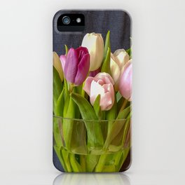 Flowers in a vase - Tulips are better than one iPhone Case