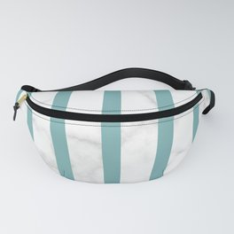 marble vertical stripe pattern turquoise Fanny Pack