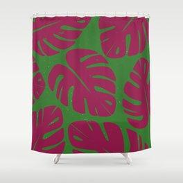 Monstera Leaf Print 4 Shower Curtain
