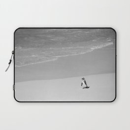 Lone African Penguin walking on beach Laptop Sleeve