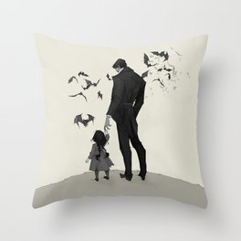 Father Daughter Time Throw Pillow