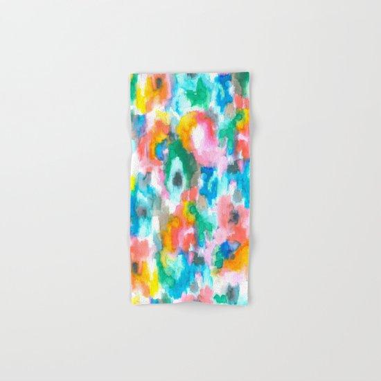 Paradise Watercolor Ikat Hand & Bath Towel
