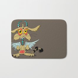 Evil Flying Feline Jackalope  Bath Mat