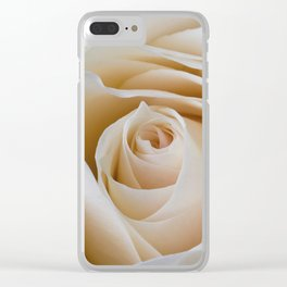 Creamy Rose Clear iPhone Case