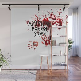 DRIPPED IN BLOOD HANDS Wall Mural