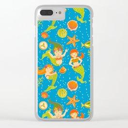 Mermaids Clear iPhone Case